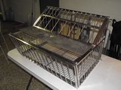 One pigeon cage made by stainless steel wire mesh which is more safer than ordinary material.