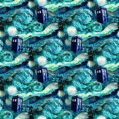 This is epic, you guyz. My Starry Night #TARDIS design is now available as gift wrap. I die.