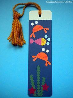 La classe della maestra Valentina: SEGNALIBRI - SECONDA PUNTATA Creative Bookmarks, Bookmarks Kids, Ribbon Bookmarks, Easy Crafts For Kids, Summer Crafts, Diy For Kids, Diy And Crafts, Felt Bookmark, Bookmark Craft