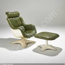 Chairs Post-1950 Helpful Mid Century Modern Dux Lounge Armchair & Ottoman Danish Sculptural 1970s Regular Tea Drinking Improves Your Health