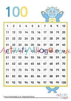 Monster hundred square. Click through to the website for the printable. Monster Crafts, Monster Games, Monster Coloring Pages, Colouring Pages, Maths Resources, Funny Monsters, Things To Come, Printable, Website