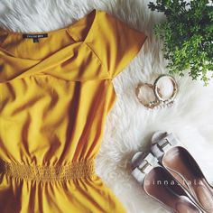 Gianni Bini Peplum Blouse Gianni Bini Peplum Blouse  - Elegant top to wear for the office or a night out. Can be paired with a pencil skirt or slacks.  - Rich golden, yellow in color. Cap sleeves and peplum bottom.  - 100% Polyester. Dry clean only. - Work sparingly. - : inna_lala (me!) ✨ Open to offers!!! ✨ Gianni Bini Tops Blouses