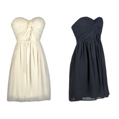 This strapless party dress comes in Navy or Ivory: http://ss1.us/a/ZwsG8vfT http://ss1.us/a/ToGTsUkt