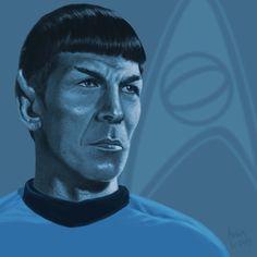 Star Trek TOS portrait series 02 - Spock - Nimoy by jadamfox on DeviantArt