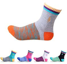 Searchself Womens Colorful Vintage Style Cotton Crew Socks set 1 *** Read more reviews of the product by visiting the link on the image.