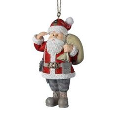 Kurt Adler U.S. Army Santa Christmas Ornament