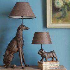 Graham and Green -  Greyhound and Pug Lamp