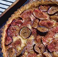 Fresh Fig Tart with Orange Flower Custard