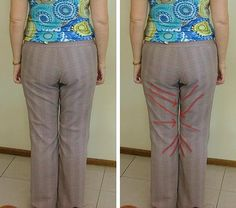 Fitting JStern Pants - Part how to alter pants pattern Sewing Lessons, Sewing Class, Love Sewing, Diy Clothing, Clothing Patterns, Sewing Patterns, Sewing Pants, Sewing Clothes, Sewing Alterations