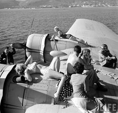 """They don't call it the 'Golden Age of Travel' for nothing. If you thought you were having early symptoms of the pre-summer travel bug, this will surely finish you off. Found deep within LIFE magazine's archives, introducing """"the flying yacht."""" CeremoniesAtSea.com"""