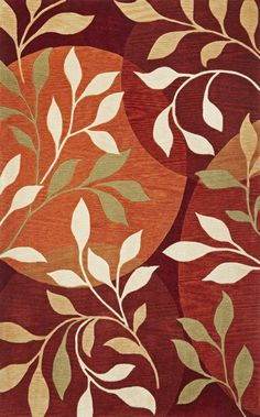 Bali 2873 Contemporary Hand Tufted Red and Brown Polyacrylic Rug - KAS Oriental Rugs | Rugs by SelectRugs.com