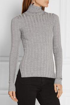 Light-gray merino wool-blend Slips on 80% merino wool, 20% nylon Hand wash