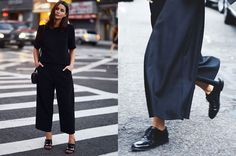 5 X STYLING WIDE LEGGED TROUSERS #culottes #streetstyle