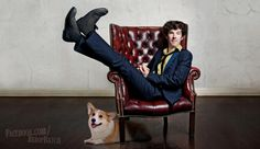 Benedict Cumberbatch as Spike Spiegel. With a data dog, no less. | BenedictBebop