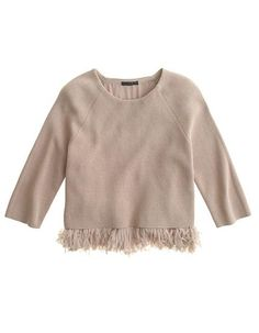 13 Ways to Wear Spring's Fringe Trend - J. Crew Sweater from #InStyle