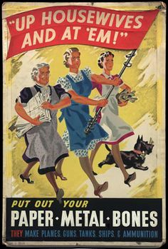 British poster: Up Housewives and At'Em!
