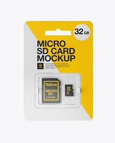 Micro SD Card With Adapter Mockup – Front View