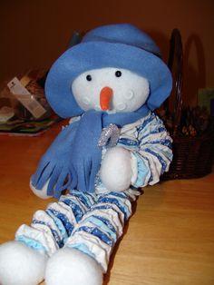 Yo-Yo Snowman tree topper