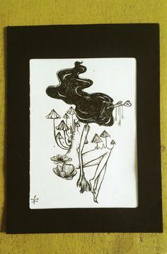 #cordulia #line #fineline #draw  #organic #plants #fae #faery #mushroom