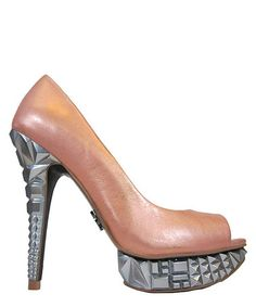 Take a look at this Light Pink Keiraah Peep-Toe Pump by Rachel Rachel Roy on #zulily today!