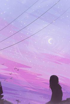 "zandraart: "" gazing skywards """