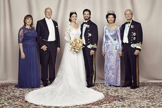 The Prince Couple with their parents. Photo: Mattias Edwall