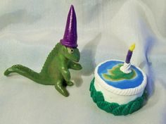 DINOSAUR BIRTHDAY CAKE OOAK Jurassic World art doll cake decoration 1 year old