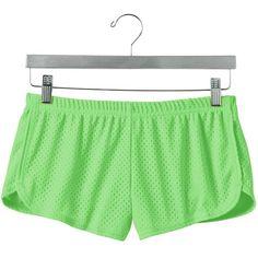 Shorts (11 CAD) ❤ liked on Polyvore featuring shorts, elastic waist shorts, soffe shorts, black mesh shorts, black shorts and black elastic waist shorts