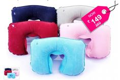 U Shaped Inflatable Neck Rest Air Travel Pillow + Free Shipping, SAVE 57%... Rs.149 instead of Rs.350 for New generic Air Inflated Neck Pillow, Easily inflated and deflated with valve for compact and convenient storage.