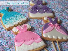 bymamicookies, DELICIOSAS GALLETAS DECORADAS: Galletas de y para princesas (II)