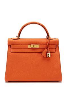 aa3e7da1fa Orange Togo Kelly 32cm Fall Handbags