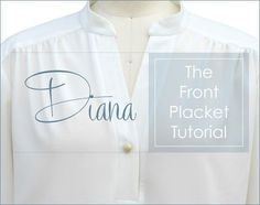 Inserting a front placket can be challenging.  It definitely requires intermediate to advanced sewing skills but with practice and patience anyone can ...