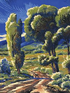 After the Storm ~ eight color woodcut hand printed from seven wood blocks ~ Brad Teare