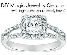 DIY Magic Jewelry Cleaner with only 2 household ingredients. This stuff works wonders!