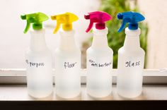 Make your own cleaners for toilets, windows, mold, floors,even air fresheners!