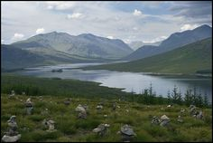 Scottish Landscape with Cairns
