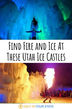 Explore Ice Castles And Enjoy A Fire Show In Utah Explore Ice Castles And Enjoy A Fire Show In Utah This winter, add Utah's ice castles to your t Summer Fun List, Summer Bucket Lists, Summer Kids, Water Games For Kids, Indoor Activities For Kids, Family Activities, Winter Fun, Winter Travel, Backyard For Kids