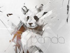 Não para descrever o talento de Alexis!! Panda by Alexis Marcou, via Behance