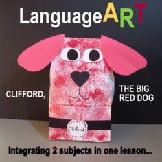 """EVERYONE LOVES CLIFFORD -JUST EVERYONE!  And this lesson, """"CLIFFORD, THE BIG RED DOG CRAFTIVITY...AFTER READING THE STORY"""", provides the primary age children with an experience in which art and literature work together. After hearing the teacher read the story of Clifford, the Big Red Dog, and discussing the story, the students will then enjoy a simple cut and paste project. Check out http://www.onestopteachershop.com/2015/04/what-is-languageart.html"""