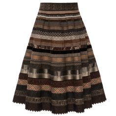 """Shop it now - the new ribbon skirt """"grandpa"""" in shades of dark brown by Lena Hoschek is now available online! Traditional Jacket, Traditional Dresses, A Line Skirts, Mini Skirts, Dirndl Blouse, Ribbon Skirts, Brown Skirts, Jeans Rock, Piece Of Clothing"""