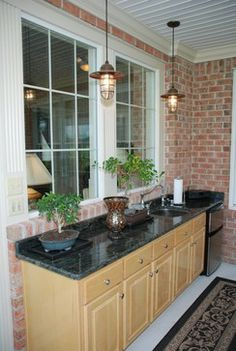 Houzz Enclosed Porches | New Enclosed Screened Porch, Wet Bar traditional porch