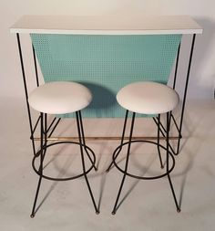 Mid-Century Modern Free-Standing Bar and Stools by Frederick Weinberg 8