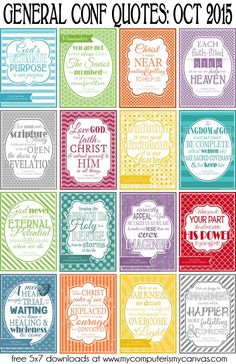 My Computer is My Canvas: Printable LDS General Conference Quotes: October 2015 Lds Quotes, Uplifting Quotes, Great Quotes, 2015 Quotes, Lds Conference, General Conference Quotes, Relief Society Activities, Lds Church, Church Ideas