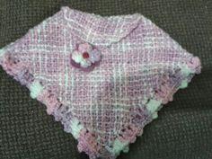 Ponchito niña a telar Sweaters, Fashion, Weaving Looms, Ponchos, Blue Prints, Moda, Fashion Styles, Fasion, Sweater