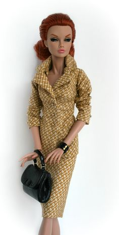 Sophisticated Tan and Gray suit for 16 inch Fashion Dolls