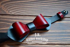 Personalized bow tie black leather bow tie red leather bow tie Men's bow ties wedding bow tie wedding gift gift for men Valentine's gift men