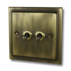2 gang antique brass toggle switch available to buy now from Socket Store. Call us now on 02920 004 887 for assistance Antique Brass, Door Handles, Victorian, Antiques, Light Switches, Corridor, Radiators, Snug, Master Bedroom