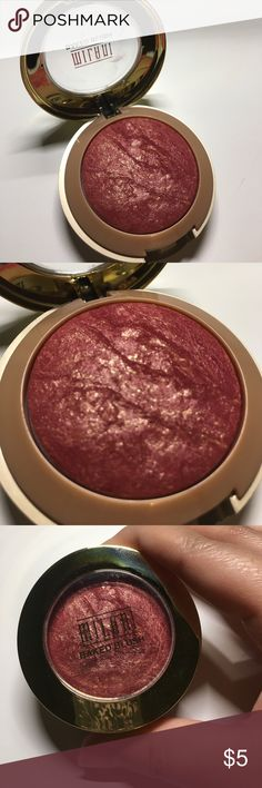 Milani baked blush - Red Vino Gorgeous blush!! And very pigmented. I love the color, used this twice but have to use a very light hand. Selling because I have so many blushes and using such a light hand, I would never get through using this. Would be better suited for a deeper skin tone, but color is gorgeous for anyone. Milani Makeup Blush