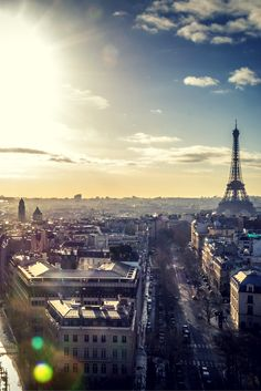 Awesome romantic views of the Eiffel Tower.