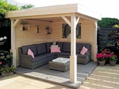 Lugarde Tenerife gazebo Lugarde Tenerife gazebo specification Gazebo with flat roof 300cm deep x 300cm wide Pine posts & braces EPDM rubber roof with downpipe Pine tongue & groove ceiling 28mm gazebo walls 4 x pine decorative post bases